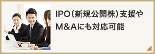 IPO(新規公開株)支援やM&Aにも対応可能